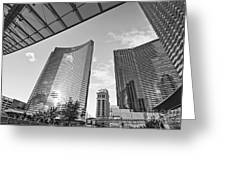 Citycenter - View Of The Vdara Hotel And Spa Located In Citycenter In Las Vegas  Greeting Card by Jamie Pham