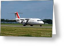 Cityjet British Aerospace Avro Rj85 Greeting Card