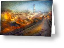 Cityscape #17 - Redpolis Greeting Card