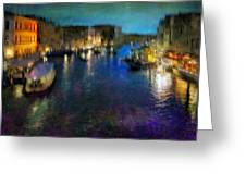 Cityscape #19. Venetian Night Greeting Card