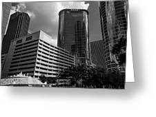 Cityscape 23 G Houston Greeting Card