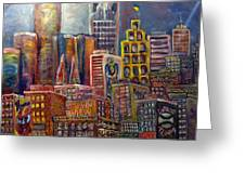 Cityscape 9 Greeting Card