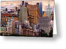 Cityscape Dream Greeting Card