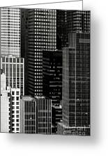 Cityscape In Black And White Greeting Card
