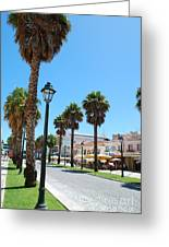 Cityscape In Cascais Greeting Card