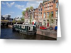 Cityscape Of Amsterdam Greeting Card