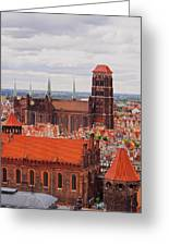 Cityscape Of Gdansk Greeting Card