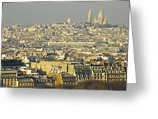 Cityscape Of Paris Paris, France Greeting Card by Ingrid Rasmussen