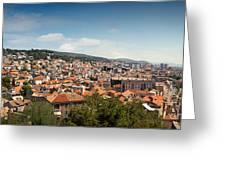 Cityscape Of Sibenik Croatia Greeting Card