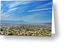 Cityscape Of Tuxtla Chiapas Greeting Card