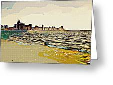 Cityscape Greeting Card by Peter Waters