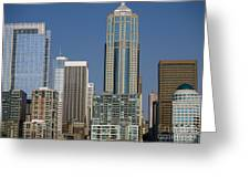Cityscape Seattle Greeting Card