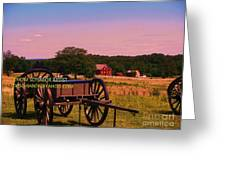 Civil War Caisson At Gettysburg Greeting Card