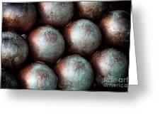 Civil War Cannon Balls Greeting Card