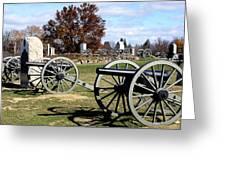 Civil War Cannons At Gettysburg National Battlefield Greeting Card