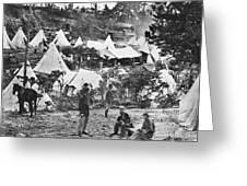 Civil War Hospital, 1860s Greeting Card