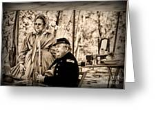 Civil War Officer And Wife Greeting Card