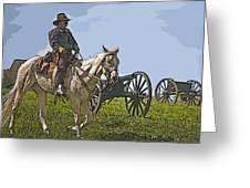 Civil War Officer Greeting Card