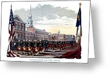 Civil War Philadelphia Zouave Corps Greeting Card