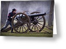 Civil War Reenactor Firing A Revolver Greeting Card