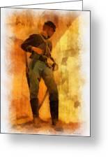 Civil War Soldier Photo Art Greeting Card