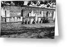Civil War Wall Of Tombstones Savannah Georgia Greeting Card