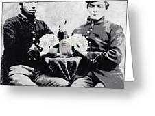 Civil War Whiskey And Cards  C. 1863 Greeting Card