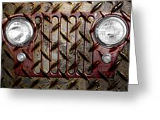 Civilian Jeep- Maroon Greeting Card