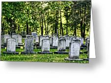 Civitl War Warrior Graves Greeting Card by Linda Phelps