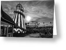 Clacton Pier  Greeting Card by Andrew Lalchan