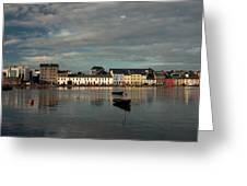 Claddagh  Quays. Greeting Card by Peter Skelton