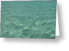 Clear Water Of Guam Greeting Card
