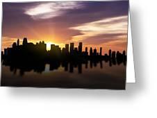 Calgary Sunset Skyline  Greeting Card