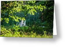 Clandestine Chair Greeting Card by Jason Brow