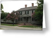 Clapboard House Colonial Williamsburg Greeting Card