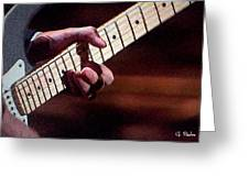 Clapton Playing Guitar - Watercolor Painting Greeting Card