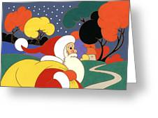 Clarice Cliff Santa Greeting Card