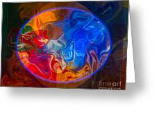 Clarity In The Midst Of Confusion Abstract Healing Art Greeting Card