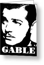Clark Gable Black And White Pop Art Greeting Card