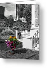 Clark House Flowers 2 Greeting Card