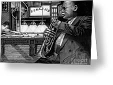 Jazz Clark Terry Greeting Card