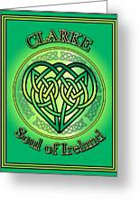 Clarke Soul Of Ireland Greeting Card