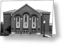 Clarke University Donaghoe Hall Theater Greeting Card by University Icons