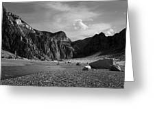 Clarks Fork Canyon Interior Bw 1 Greeting Card