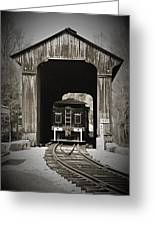 Clarks Trading Post Train Greeting Card