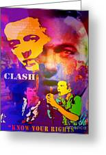Clash Know Your Rights Greeting Card