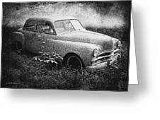 Clasic Car - Pen And Ink Effect Greeting Card