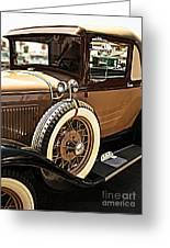 Classic 1928 Ford Model A Sport Coupe Convertible Automobile Car Greeting Card