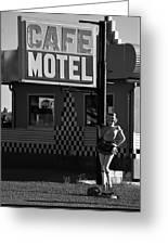 Classic 50s Motel Cafe Greeting Card