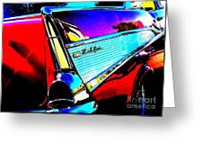 Classic 57 Chevy Art Greeting Card